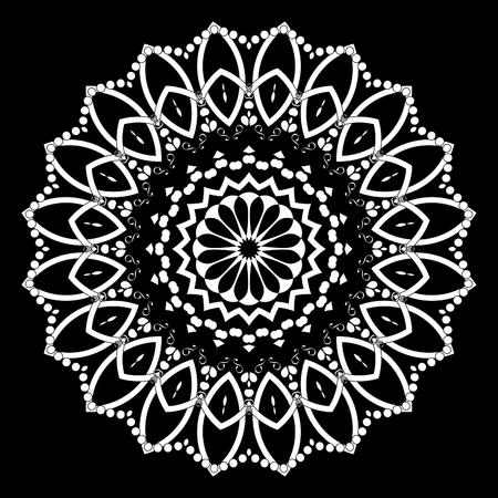 Mandala decorative element. Oriental illustration. Islam, Arabic, Indian, turkish, pakistan, chinese, ottoman motifs