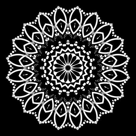 Mandala decorative element. Oriental illustration. Islam, Arabic, Indian, turkish, pakistan, chinese, ottoman motifs