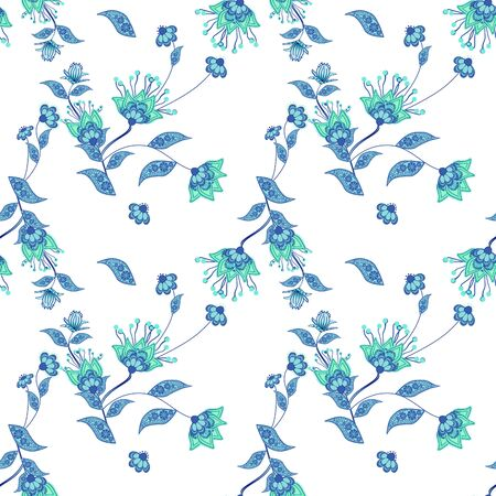 Seamless floral pattern background, flowers ornament wallpaper textile Illustration Stock fotó
