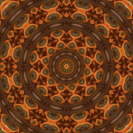 Kaleidoscopic design abstract ornament seamless texture, wavy psychedelic pattern background Stock Photo