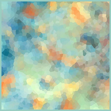 Glass vitrage mosaic kaleidoscopic pattern background soft pastel colors Stock Photo