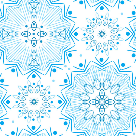 Seamless abstract ornamental pattern on white background
