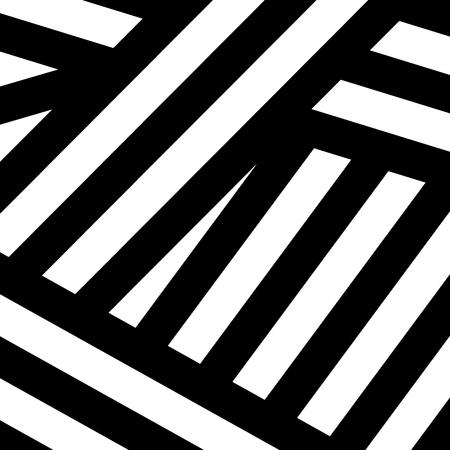 抽象的な黒い白い印刷モダンアート。
