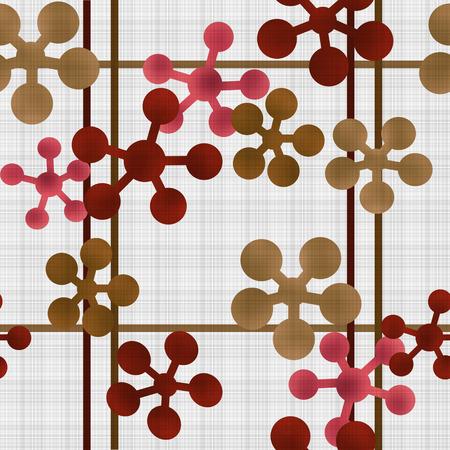 Abstract geometric retro seamless pattern background texture Stock Photo