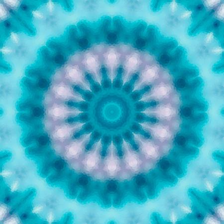 Seamless kaleidoscope mosaic pattern background Stock Photo