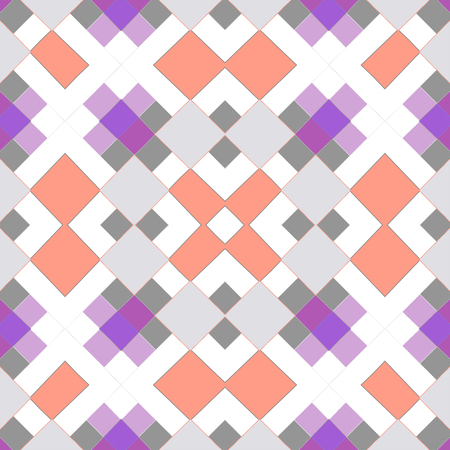 Seamless geometrical squares mosaic pattern background