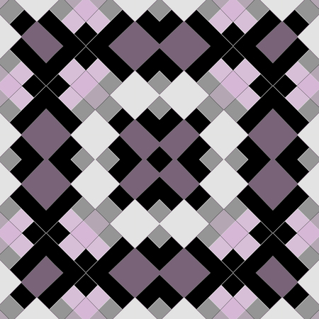 Seamless geometrical squares mosaic pattern background