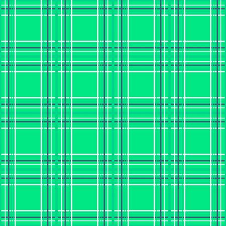 Seamless checkered plaid tartan green pattern background