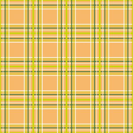 Fondo de patrón naranja de tartán cuadros cuadros sin costuras