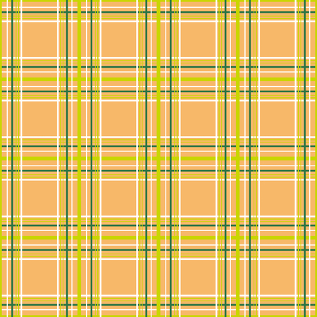 Seamless checkered plaid tartan orange pattern background