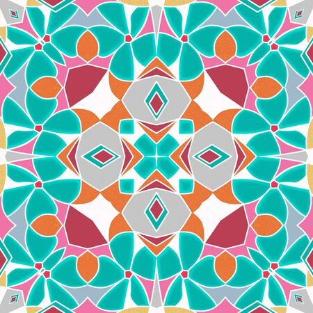 Vitrage seamless ornamental abstract pattern background