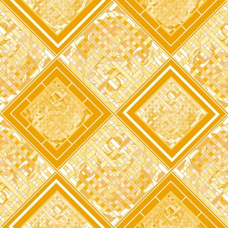 Abstract seamless patchwork geometrical pattern quilting lined striped
