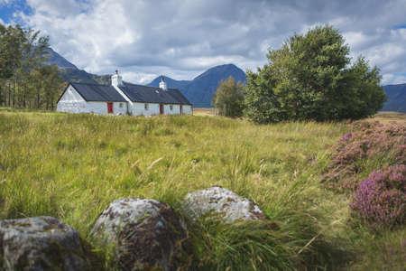 Blackrock cottage and buachaille etive mor, Glencoe, Scotland. High quality photo