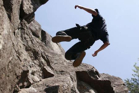 abruption: rock climber