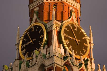 Russia, Moscow Kremlin - clock-face
