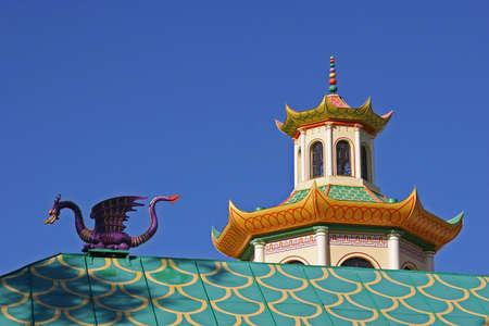 singular architecture: The Chinese architectural stylization Stock Photo