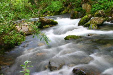 Stream in northern high mountains