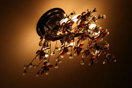 The beautiful fixture for an interior of a living room photo