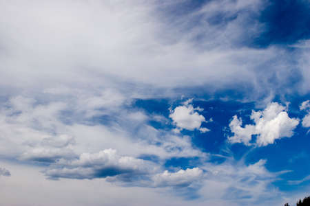 The sky with clouds. Background
