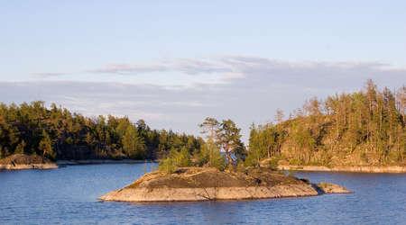 Stone island in a small gulf
