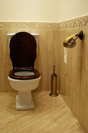 toilet roll: Toilet room Stock Photo