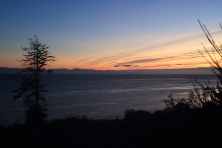 sunset on vancouver island