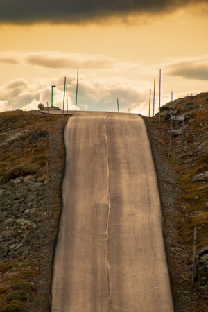 lonesome street in norway Stock Photo