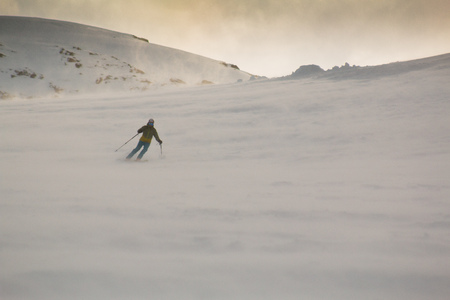 skiing in austrian mountains
