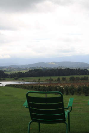 lawn chair: Lawn chair overlooking Yarra Valley