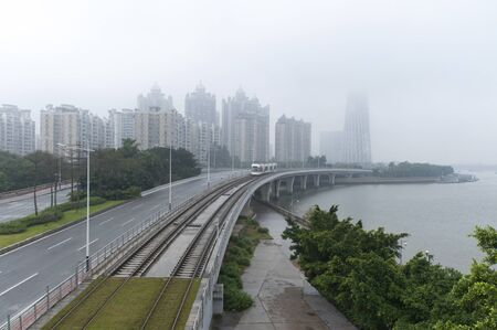 Guangzhou light rail landscape