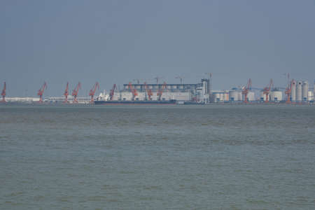 View of a ship port