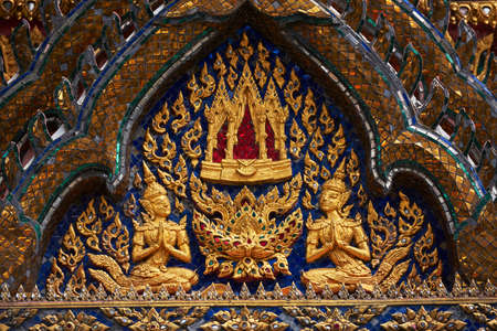 Golden temple carvings