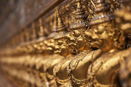 Close up of golden carvings Stock Photo