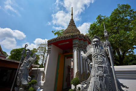 Gate with statues in Thailand