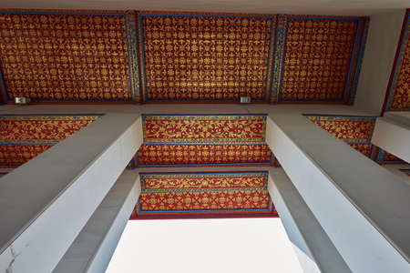 Ceiling on corridor at a temple in Thailand