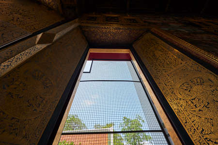 Interior structure of a temple in Thailand Stock Photo