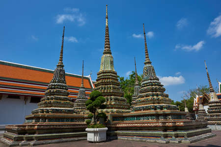 Structures in a temple in Thailand
