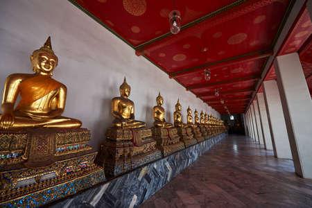 Buddha statues at Wat Pho in Bangkok Thailand