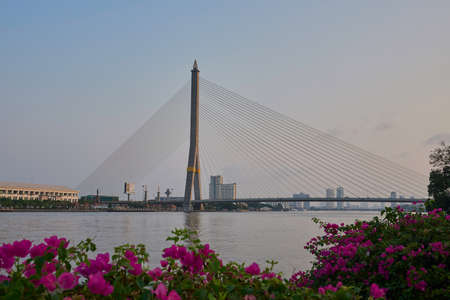 Rama VIII Bridge in Bangkok, Thailand