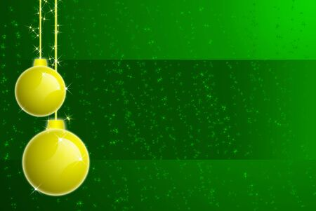 trumpery: Christmas balls and stars with snowflakes background
