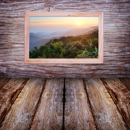 Window with a view mountain  photo
