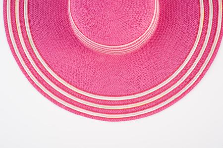 Straw hat on white background.