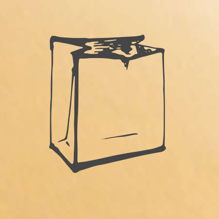 packing: paper bag sketch packing Illustration