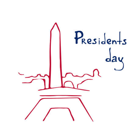 royalty free: Presidents Day sketch Insignia EPS 10 vector royalty free stock illustration perfect for ads, posters, marketing, blog, website