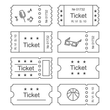 Set Of Golden Tickets And Coupons Templates Royalty Free Cliparts ...