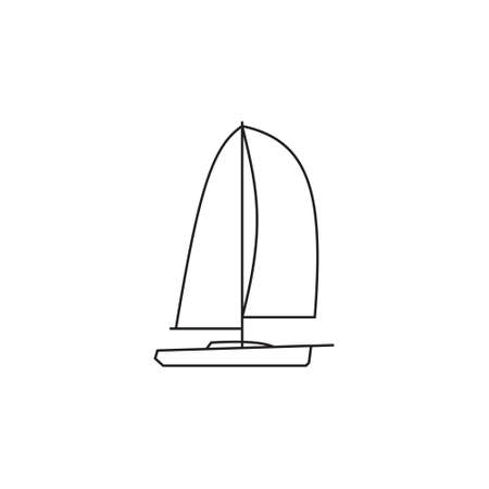 brig: Sailing ships icon. Sailing  boat in line style.