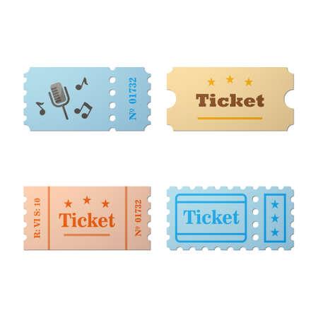 Ticket icon in de cartoon-stijl. Ticket vector illustratie. Kaartjesstomp geïsoleerd op een achtergrond. Retro bioscoopkaartjes. Tickets concept pictogram. Ticket van vlakke stijl.