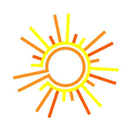 Flat de zon. Zon symbool. flat sun icon. Zon geïsoleerd op een witte achtergrond. Stock Illustratie