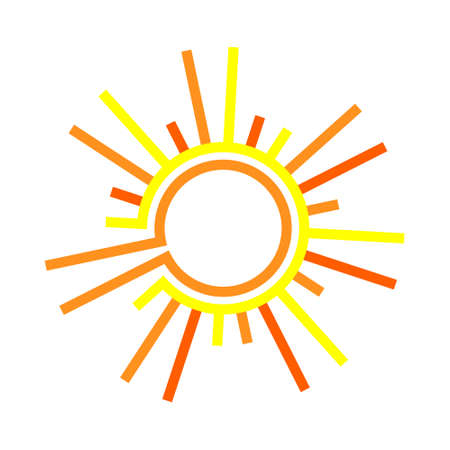 sol: Flat the sun. Sun symbol. flat sun icon. Sun isolated on white background.
