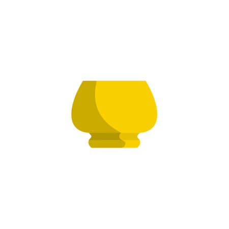Image of flower pot flat style. Flowerpot icon illustration.